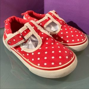 Gymboree Red and White Polka Dot Sneakers